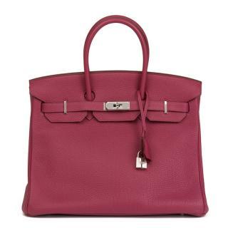 Hermes Tosca Togo Leather Birkin 35cm
