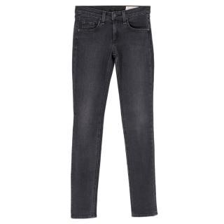 Rag & Bone Dark Grey Skinny Jeans