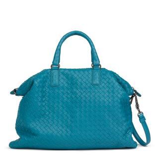Bottega Veneta Brighton Woven Lambskin Convertible Bag