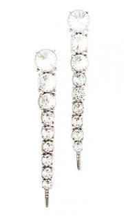 Oscar De La Renta Crystal Tendril Drop Earrings