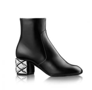 Louis Vuitton Silver Light Ankle Boots