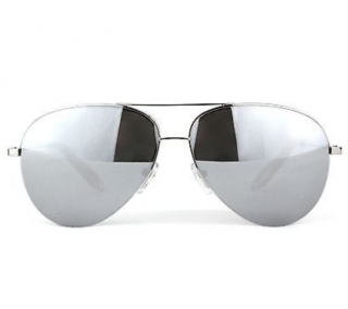 Victoria Beckham Silver Mirrored Classic Aviator Sunglasses
