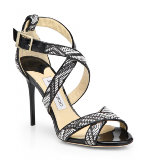 Jimmy Choo Lottie Woven Leather Sandals