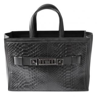 Proenza Schouler Large PS11 Carrier Tote Black Python Leather Bag