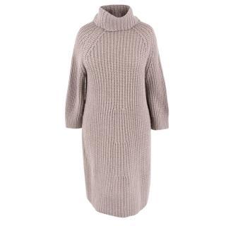 Claudia Schiffer X Iris Von Arnim Cashmere-blend Jumper Dress