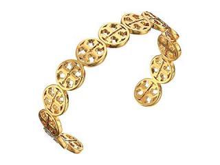 Tory Burch 14k Gold Plated Logo Cuff