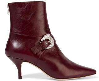 Dorateymur Saloon Buckled Burgundy Leather Boots