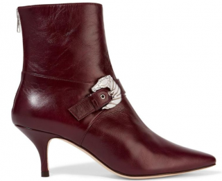 Dorateymur Saloon Buckled Burgundy Leather Boots