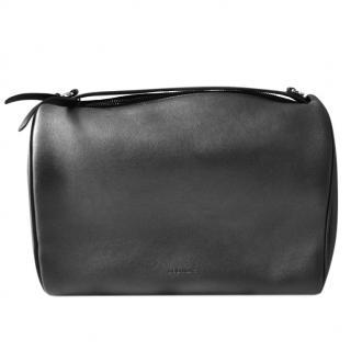 Jil Sander Black Leather Bowling Bag