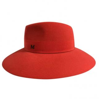 Maison Michel Orange Hat