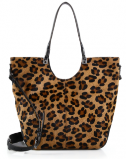 Elizabeth And James Cynnie Leopard Calf Convertible Tote Bag