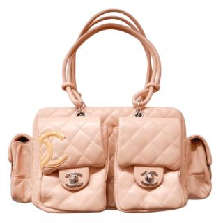 Chanel Reporter  Beige Tonal Quilted Leather Tote