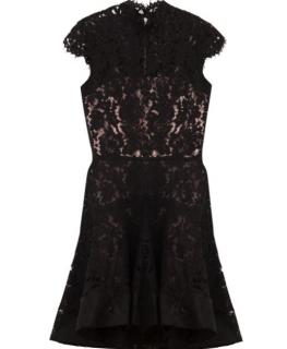 Alex Perry High Neck Lace Ellie Dress