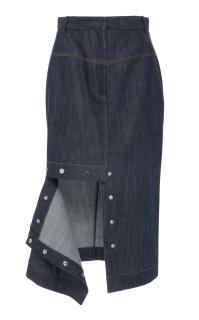 Tibi Demin Jamie Midi Skirt