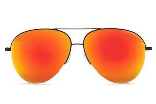 Victoria Beckham mirrored red aviator sunglasses