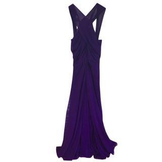 Diane Von Furstenberg Grecian style purple gown