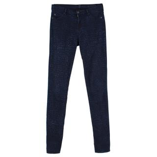 7 For All Mankind Black and Blue Jeans