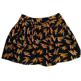 Mui Mui printed silk bubble skirt, size 40