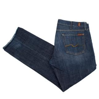 7 For All Mankind Men's Blue Jeans