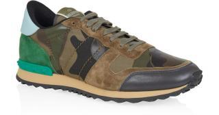 Valentino Men's Khaki Camouflage Trainers
