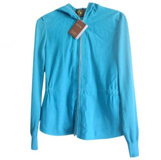 Loro Piana blue Suede leather Cashemere Lined Jacket