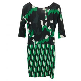 Diane Von Furstenberg Printed Helga Mini Dress