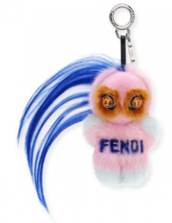 Fendi Pink Rumi Micro Monster Charm