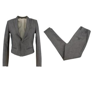 Velour Grey Wool Tailored Suit