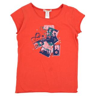 Bonpoint Girl's Pink Cotton T Shirt