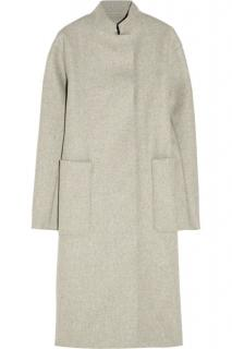 Victoria Beckham Melange Wool Felt Drop Shoulder Coat