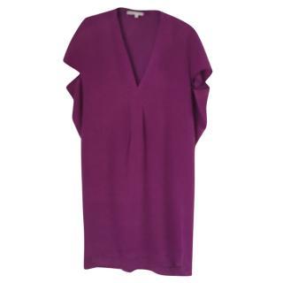 Maje Purple Silk Dress