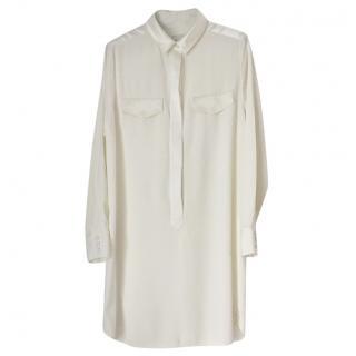 Reiss cream shirt dress