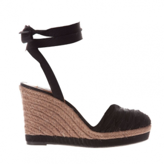 Lanvin Ribbon-Tie Espadrille Wedges