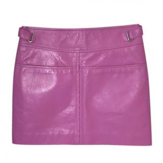 Coach Pink Calf Leather Skirt
