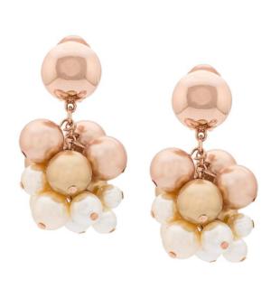 Oscar de la Renta pearl vine clip-on earrings