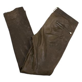 Isabel Marant Coated Leather Trousers