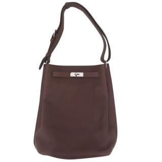 Hermes So kelly brown shoulder bag