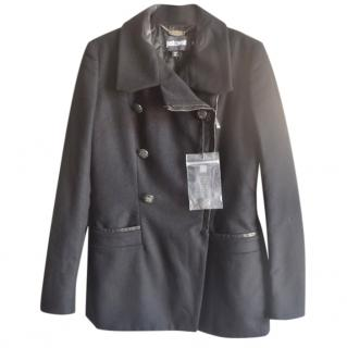 Just Cavalli black double breasted wool coat