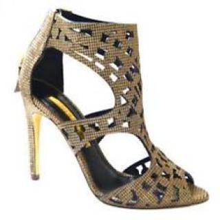 5f6350769be1fe Rupert Sanderson Gold Caged Sandals