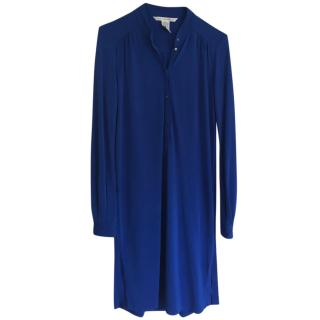 Diane von Furstenberg Blue Tassel Dress