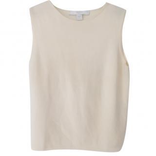 Bamford cream sleeveless knit top