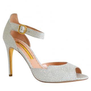 Rupert Sanderson Telita White Shatter Sandals