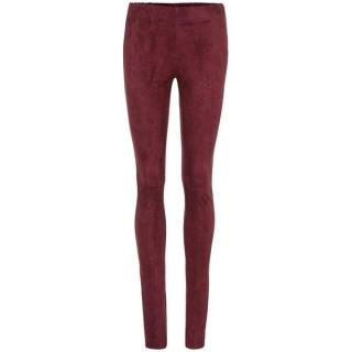 Joseph burgundy suede leggings