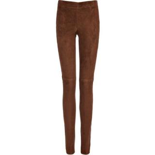 Joseph tan suede stretch leggings
