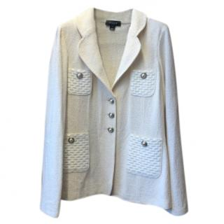 St John Cream Knit Jacket