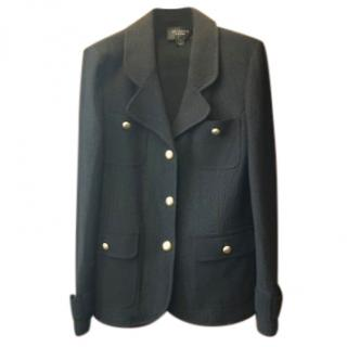 St John Black Wool Coat