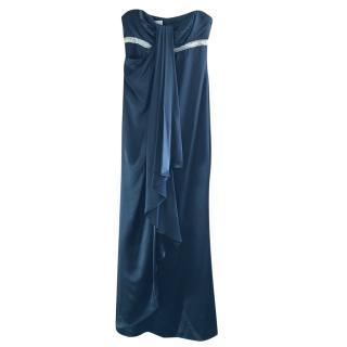 Marchesa Notte Black Grecian Evening Gown
