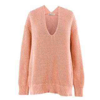 T by Alexander Wang Chunky V-neck Oversized Jumper