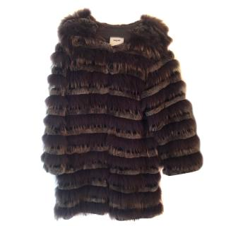 Max & Moi Raccoon & Rabbit Fur Coat