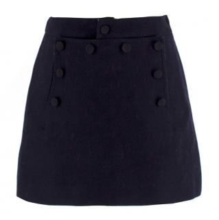 Les Coyotes De Paris Girl's Navy Skirt